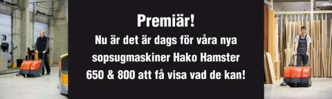 Hako Hamster 650 & 800, två helt nya sopmaskiner!
