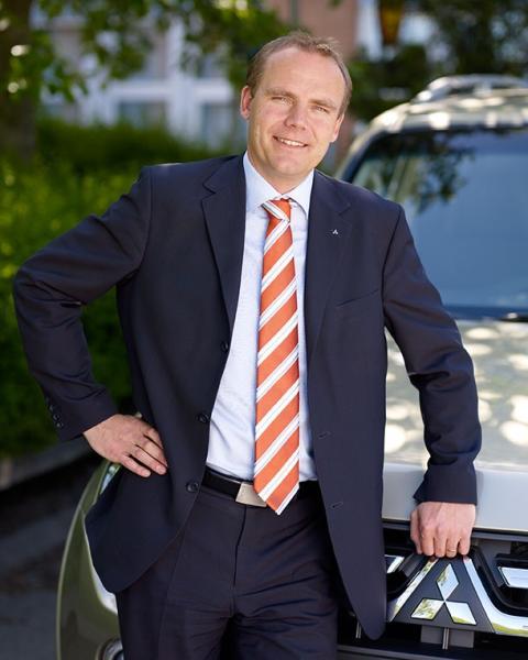 Thomas Holm, vd på Mitsubishi Motors