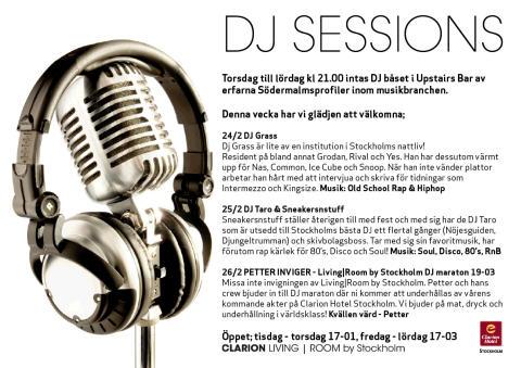 DJ Sessions 24-26 Februari - Clarion Hotel Stockholm