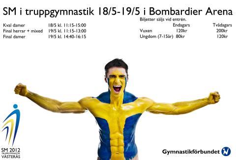 SM-finalerna i truppgymnastik sänds live på Gymnastik-TV idag lördag 19 maj med start 11.15