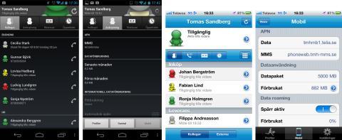 Telavox iPhone- & Android-app ger dig kontroll över dina surfkostnader utomlands