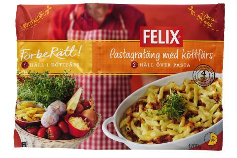 Felix FörbeRätt pastagratäng med köttfärs