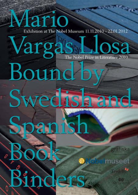 Mario Vargas Llosas bokband visas på Nobelmuseet