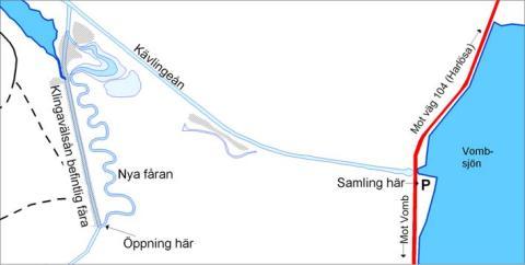 Vattnet släpps på i Klingavälsån