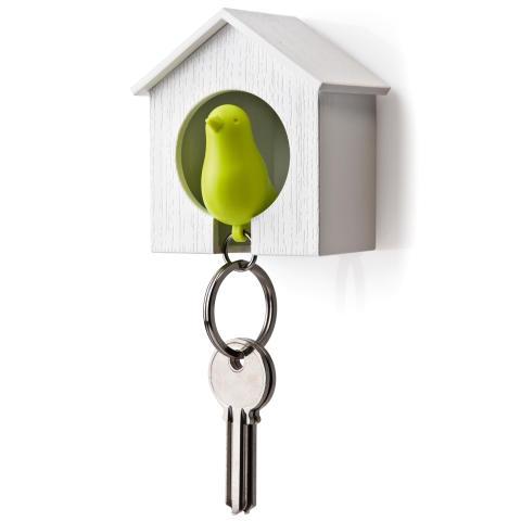 Sparv nyckelring och holk