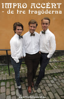 Improvisationsteater med De tre tragöderna på Teater Påfågeln 7 november!