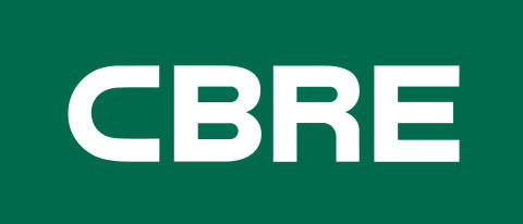 CBRE Logo - white on green
