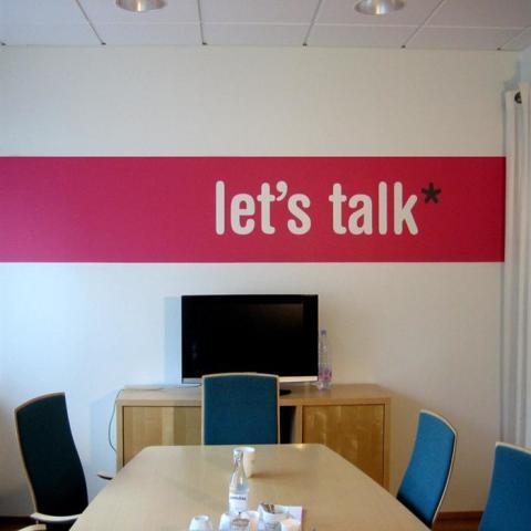 Schablon let´s talk