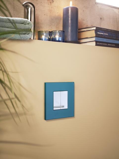 Tryckknapp för vägghängd WC i kollektionen Birger från Gustavsberg