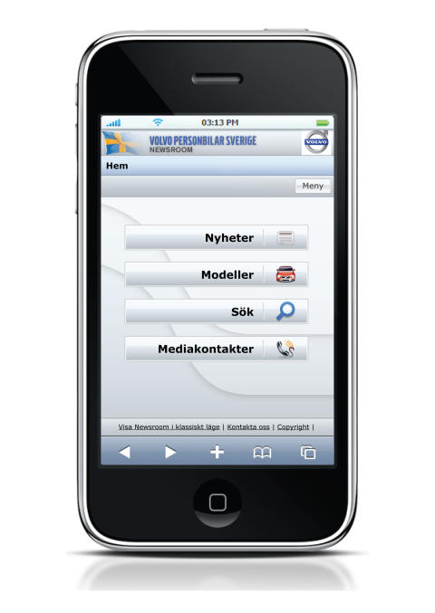 Volvo Cars Newsroom – now optimized for iPhone