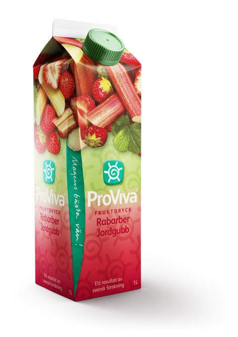 Nu är nya ProViva Rabarber Jordgubb här - en härlig smak som svenska magar kommer att älska