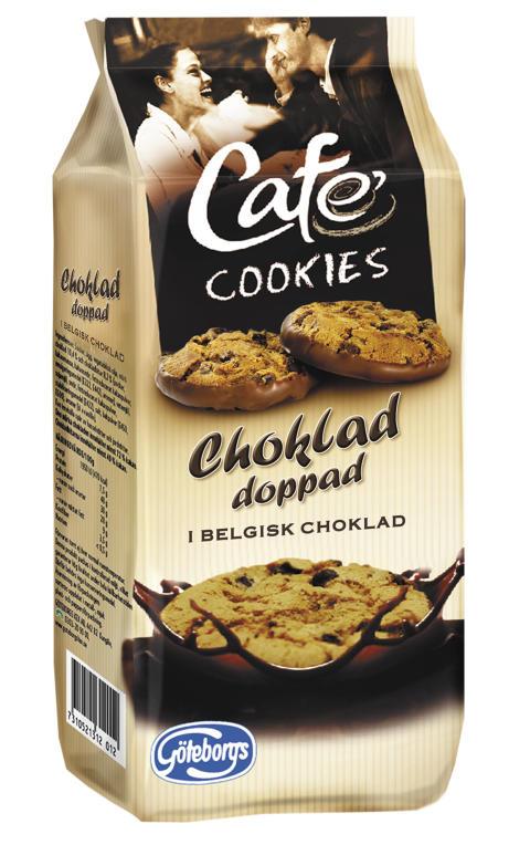 Café Cookies doppade i belgisk choklad
