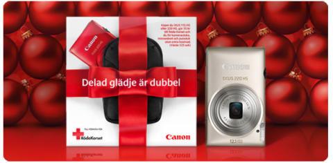 Delad glädje är dubbel - Canon stödjer Röda Korset i jul