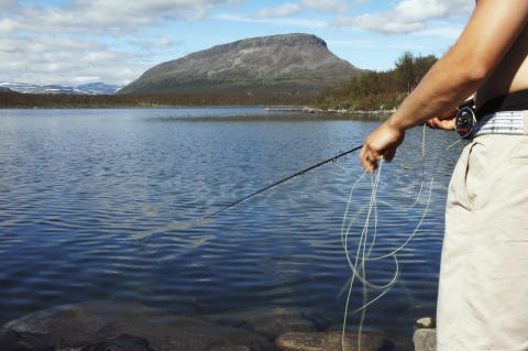 Fishing in Kilpisjärvi