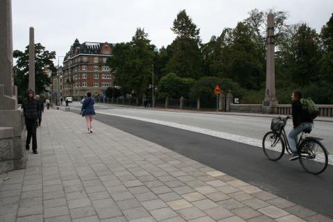Invigning av cykelbanan på Fersens bro!