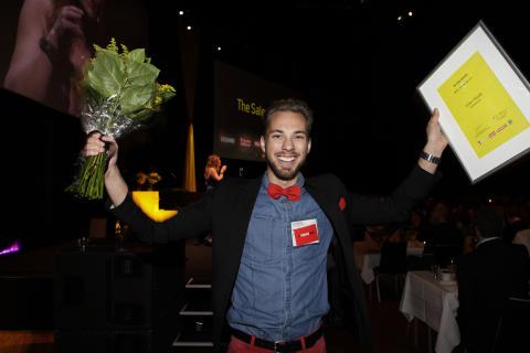 Johan Höjvall på Mynewsdesk – Årets Nykomling på The Sales Awards