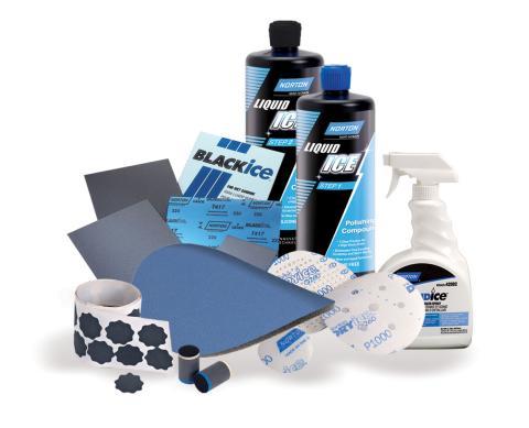 Norton Ice slip- och polerrondeller för klarlack - Sortiment