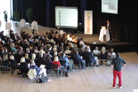 Adam Vincenzini talks about YouTube at Mynewsday in Malmö, Sweden