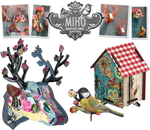 Rådjurshuvud och fågelholkar från MIHO på Bluebox.se