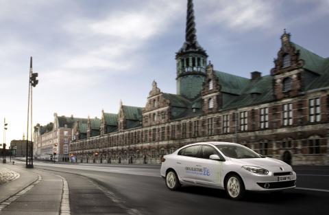 Renault Fluence Z.E. i København under klimatopmødet COP15