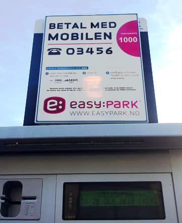 EasyPark Telefonparkering lanserer nytt skiltprogram