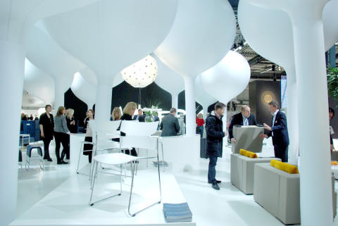 Exhibitor Materia's stand at Stockholm Furniture & Light Fair 2012