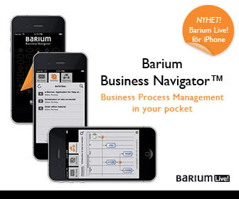 Barium Business Navigator: Verksamhetens processer i din iPhone