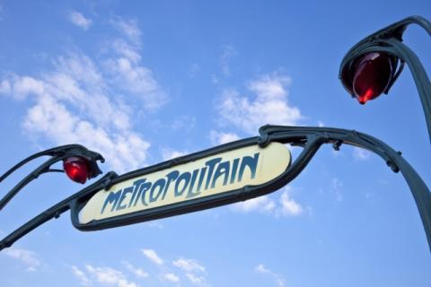 France Paris metro sign dreamstime