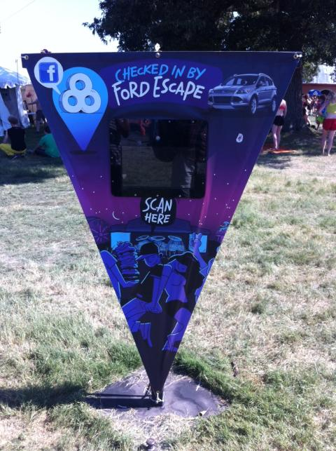 Live Click Photo Station at Bonnaroo 2012