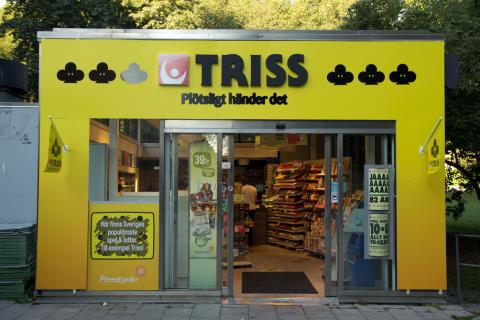 Plötsligt händer det! Pressbyrån blir en Trissbutik.