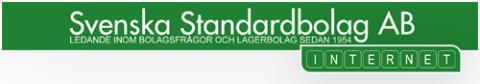 Webbhotell med Svenska Standardbolag
