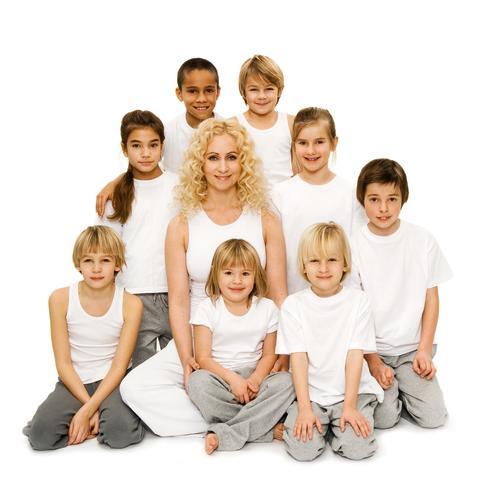 Yoga med Annette Lefterow för Barnfonden