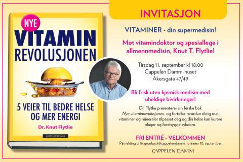 Velkommen til lansering - Nye vitaminrevolusjonen