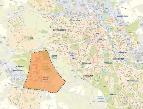 Karta över området för LinköpingsBo2016