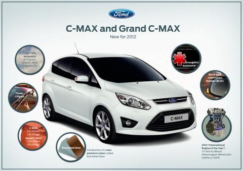 Fordin suosittu 1.0-litrainen EcoBoost-moottori tulee myös C-MAXiin ja Grand C-MAXiin
