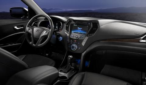 Nye Hyundai Santa Fe: Interiør