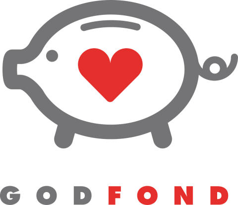 GodFonds logga, designad och skänkt av Lasse Åberg