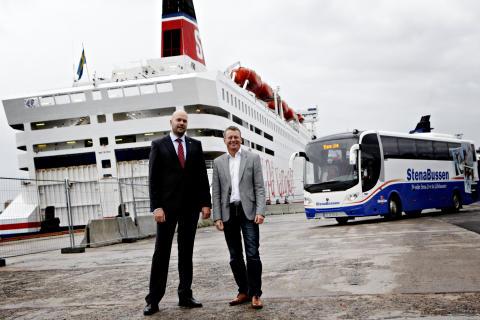 Suksess for Stena Lines «buss-til-båt»