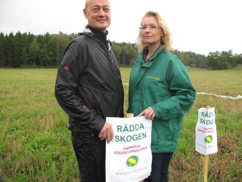 Hushållspapper ska stoppa motorled genom naturreservat