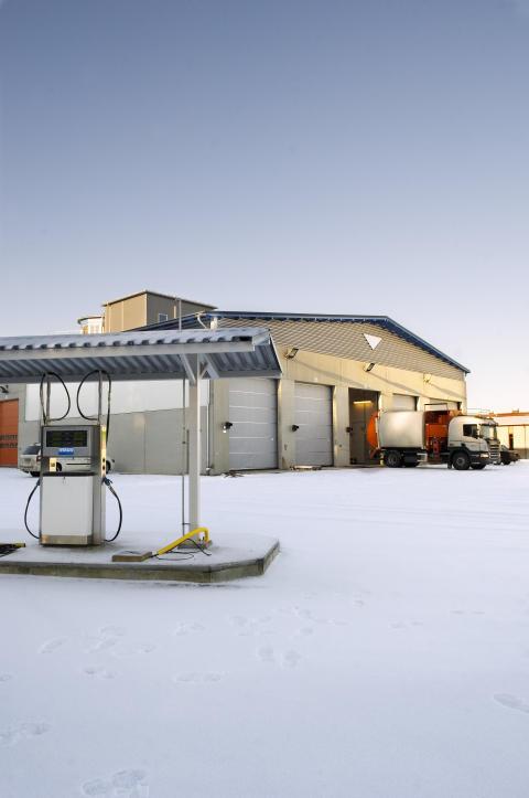 Biogasanläggningen i Skellefteå