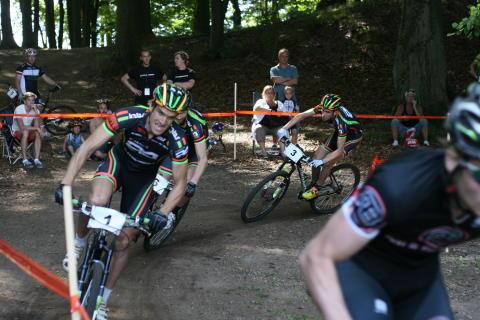Mountainbike sprinten en succé