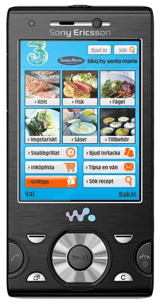 Grillapplikation till mobilen