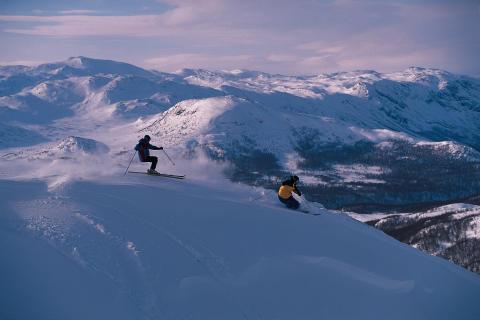 Gott om snö i skidorterna