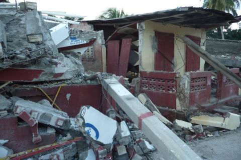 Destroyed pre-school Jacmel