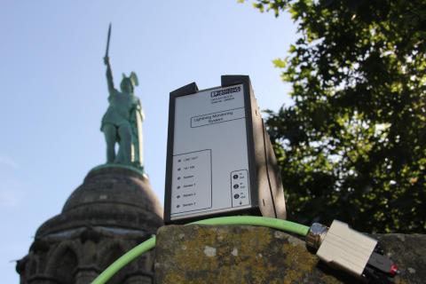 Prisvindende Lightning Monitoring System til monumentet Hermannsdenkmal i Detmold, Tyskland