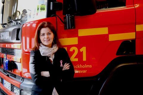 Theréz Randquist (M):  Storstockholms Brandförsvar på Ung08 lär unga om brandskydd och livräddning