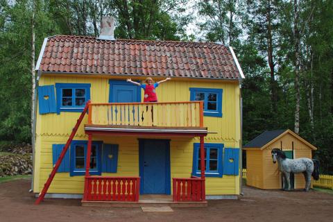 Nya Villa Villekulla-miljön i Astrid Lindgrens Värld förhandsvisades idag för pressen.