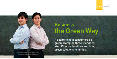 Business the Green Way - Chloros Solutions featured in SPRING News July 2011