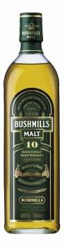 BUSHMILLS® 10 YEAR OLD SINGLE MALT, 70 cl 40,0 Vol %