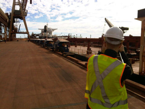 All set to film the detach of MoorMaster™ automated mooring units at Port Hedland #Cavotecfilm